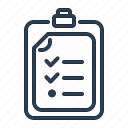 checklist, checkmark, clipboard, list, report, tasks, todo list icon