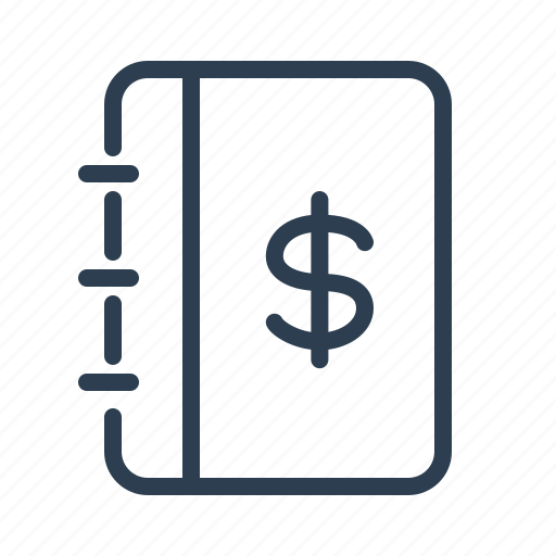 dollar, earning, finance, income, investment, note, notepad icon