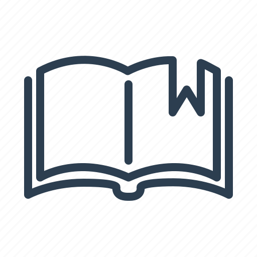 book, bookmark, education, knowledge, open, ribbon, study icon