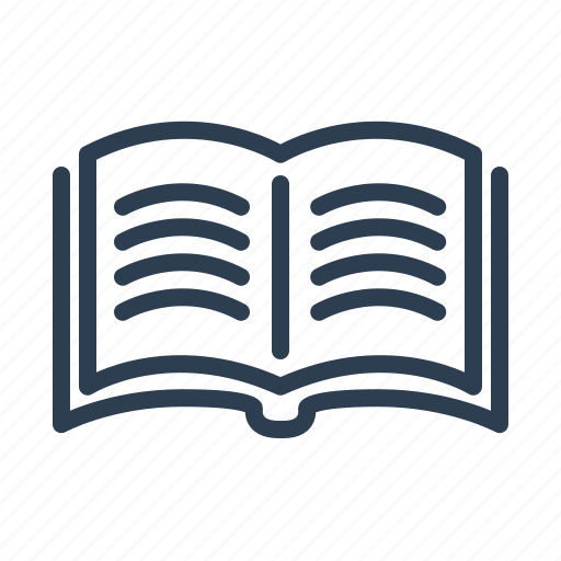 book, education, knowledge, open, read, study, text icon