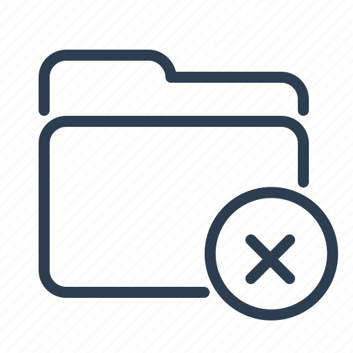 cancel, delete, documents, files, folder, remove, storage icon