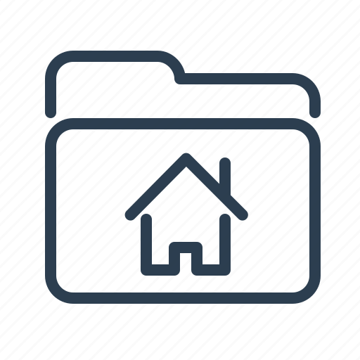 documents, files, folder, home, house, root folder, storage icon