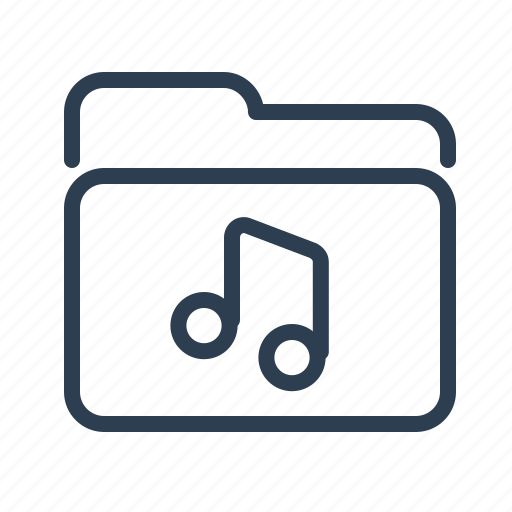audio, documents, files, folder, music, nota, storage icon
