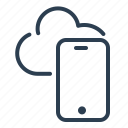 cloud, data storage, mobile, phone, share, sharing, smartphone icon