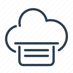 cloud, data storage, file, file sharing, share, sharing, text icon