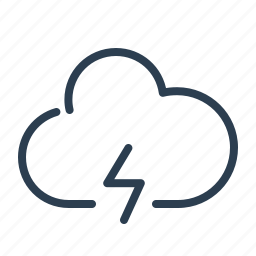 cloud, data storage, lightning, power, share, sharing, weather icon