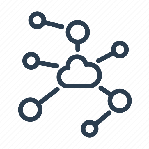 cloud, cloud computing, connection, data storage, network, share, sharing icon