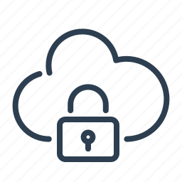 cloud, data storage, lock, private, protected, share, sharing icon
