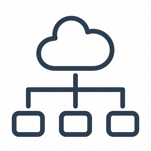 cloud, cloud map, data storage, hierarchy, share, sharing, structure icon