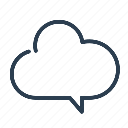 chat, cloud, data storage, message bubble, share, sharing, talk icon