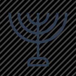 candles, celebration, hanukkah, holiday, jew, jewish, minorah icon