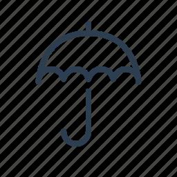 insurance, parasol, protection, rain, shield, umbrella, weather icon