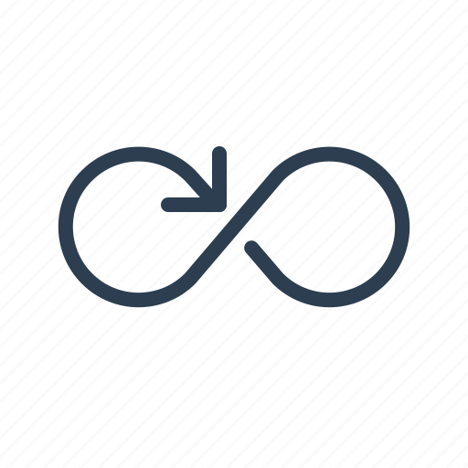 continious, cycle, endless, infinite, infinity, loop, repeat icon