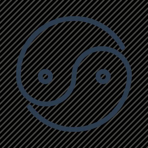 balance, equilibrium, harmony, meditation, philosophy, yang, ying icon