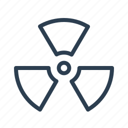 caution, danger, hazard, radiation, risk, toxic, warning icon