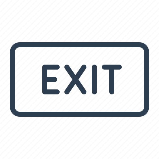 direction, emergency, exit, information board, label, sign icon