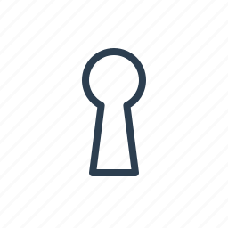 hole, key, keyhole, pass, password, secret, secure icon