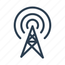 antenna, broadcast, communication, hotspot, signal, towe, wifi icon