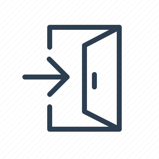 arrow, door, enter, inside, log, login, open icon