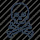 bones, crossbone, danger, pirate, poison, skeleton, skull