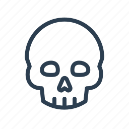 danger, dead, death, head, poison, skeleton, skull icon