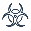 biohazard, biological, chemical, danger, ecology, toxic, warning icon