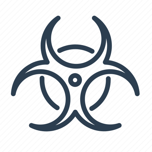 biohazard, biological, chemical, danger, ecology, toxic, warning icon