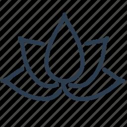 enviroment, flower, lotus, meditation, nature, plant, yoga icon