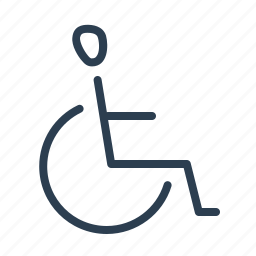 chair, disabled, handicap, invalid, roll, wheel, wheelchair icon