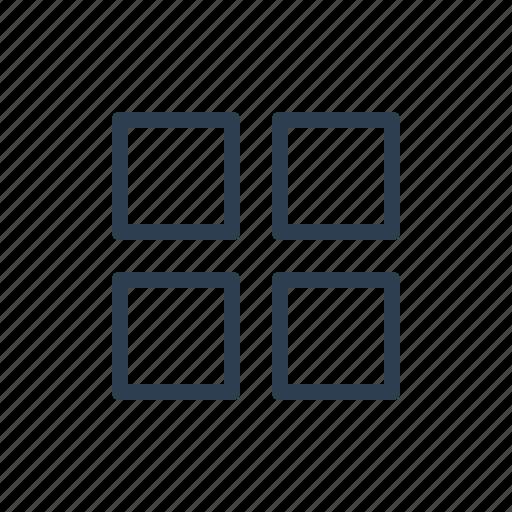 apps, blocks, grid, list, menu, tiles icon