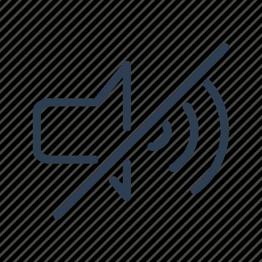 deaf, music, mute, off, silent, sound, volume icon