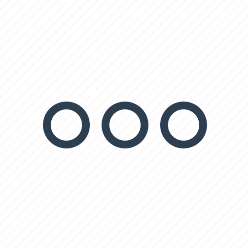 continue, dots, ellipsis, list, menu, more, options icon