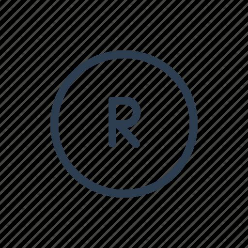 brand, identity, register, registered, rights, service mark, trademark icon