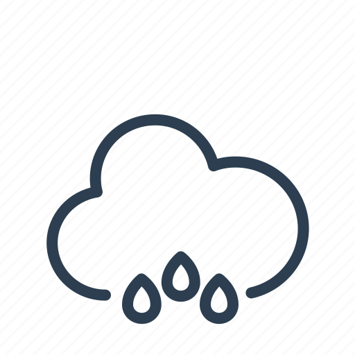cloud, drops, heavy, precipitation, rain, rainy, weather icon
