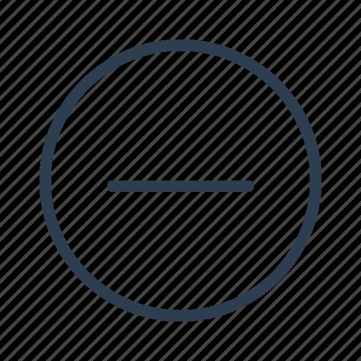 cancel, circle, close, delete, minimize, minus, remove icon
