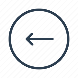 arrow, circle, direction, left, navigation, prev, previous icon