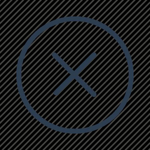 cancel, circle, close, cross, delete, exit, remove icon