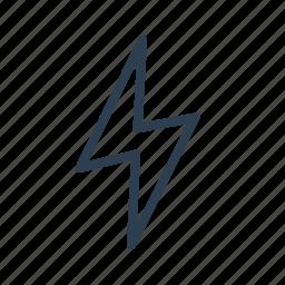 bolt, electricity, flash, lightning, power, storm, thunder icon