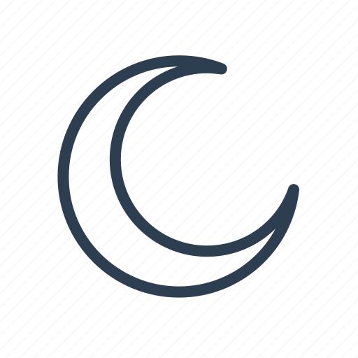 crescent, month, moon, night, sleep, time, weather icon