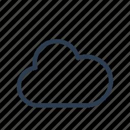 cloud, cloudy, forecast, precipitation, weather icon