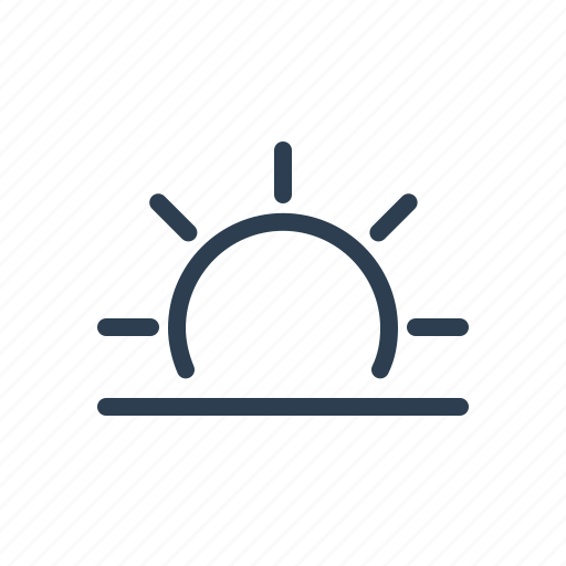 dawn, evening, horizon, morning, sun, sunrise, sunset icon