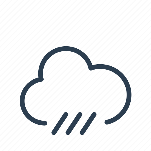 cloud, forecast, precipitation, rain, rainy, storm, weather icon