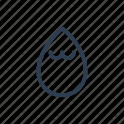 drop, high, humid, humidity, hydration, precipitation, rain icon