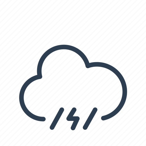 cloud, lightning, precipitation, rain, storm, thunder, weather icon