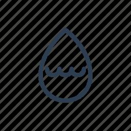 drop, humid, humidity, hydration, level, medium, rain icon