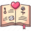 book, love, library, knowledge, paper, study, romance