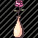 flower, rose, floral, jar, decoration, romantic