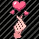 gesture, heart, love, romance, valentine, romantic, communication