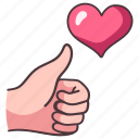 hand, love, like, communication, heart, thumb, success