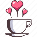 heart, coffee, cup, drink, cafe, mug, hot